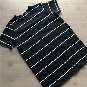 Brandy Melville Black White Stripe Tee Tunic